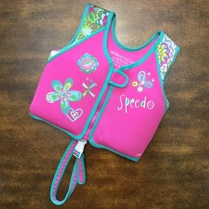 SPEEDO Pink Swimming Aid Vest, Size 2-4 Years!